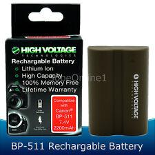 2200mAh Batteries for Canon BP-508 / BP-511 / BP-511A / BP-512 / BP-514 X2
