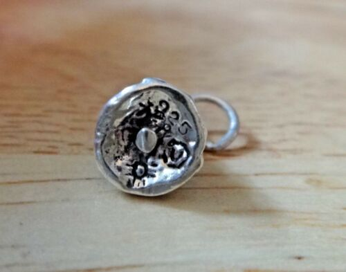 Sterling Silver 3D Small 10x8mm Christmas Tree Holiday Charm