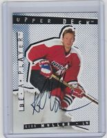 94-95 1994-95 BE A PLAYER KIRK MULLER AUTOGRAPH AUTO 40 MONTREAL CANADIENS