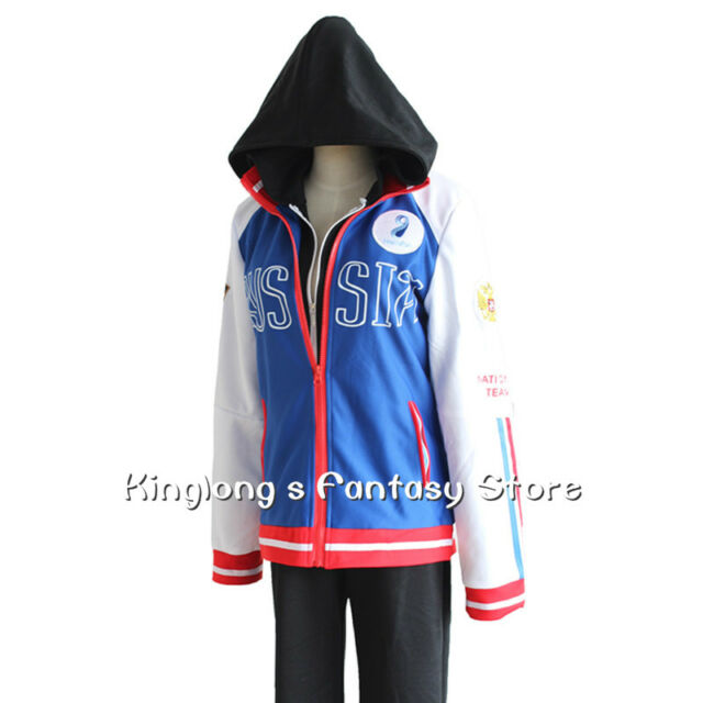 YURI!!!on ICE  Cosplay Costumes Yuri Plisetsky Cosplay Sportswear Coat Jacket