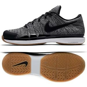 e6078d289cbc Nike Zoom Vapor Flyknit HC Grey White Black 885725-004 Men s Tennis ...