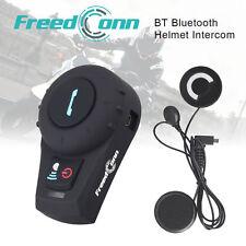 500M BT Motorcycle Bluetooth Interphone Helmet Intercom Soft Cable Headset +FM