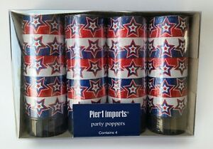 Pier 1 Imports Party Poppers Popper 4 Piece New 4th of July