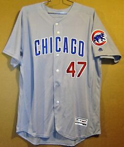 online retailer c14df c25bf Details about CHICAGO CUBS #47 MIGUEL MONTERO GRAY Majestic Size 52 MLB  AUTHENTIC JERSEY