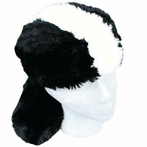 Skunk-Hat-with-Tail-Men-Adult-Unisex-Teen-Black-White-Animal-Black-White-Lined