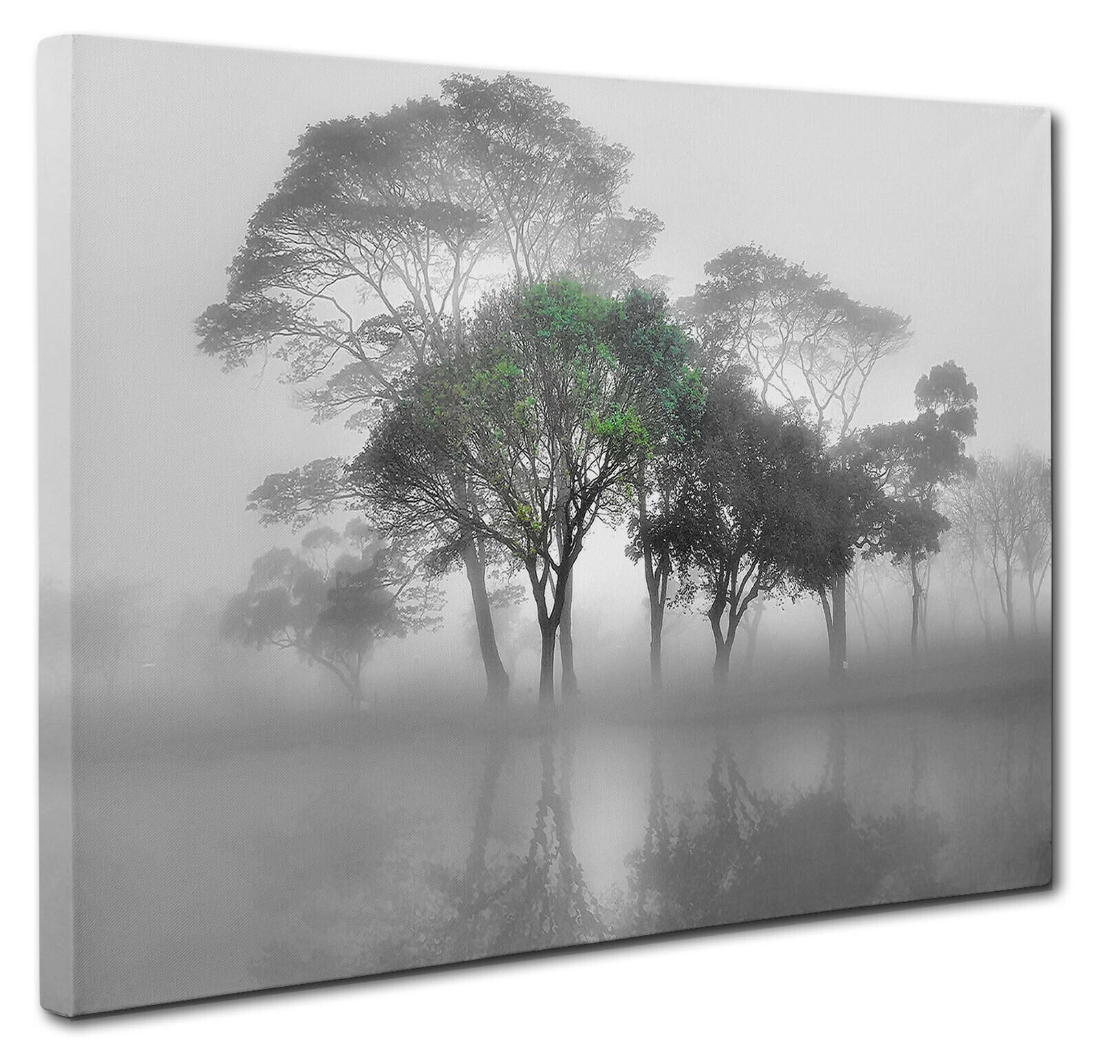 "Green Trees Lake Window View Landscape Canvas Print Wall Art 20X30/"" inches UK"