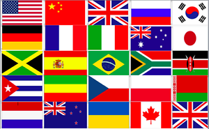 Image Is Loading 24 World Country Flags Bunting Nations National