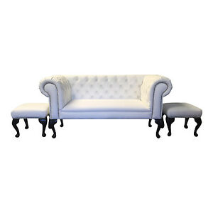 Image is loading Anastasia-White-faux-leather-Double-Ended-Chaise-Longue-  sc 1 st  eBay : double ended chaise - Sectionals, Sofas & Couches