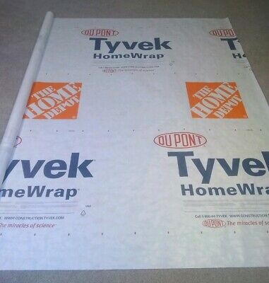 3ft Roll Minimum purchase of 4 feet Dupont Tyvek Homewrap by the linear foot