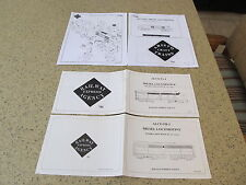 AristoCraft ALCO FA and FB Locomotive Manual with SOUND Instructions Free Ship