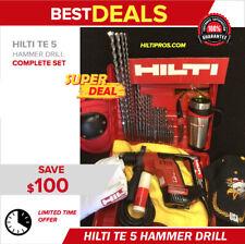 Hilti Te 5 Hammer Drill Great Condition Free Coffee Mug Lot Extras Fast Ship