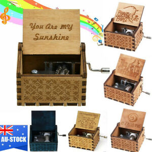 85b968d7bad Details about Various Wooden Music Box You Are My Sunshine Engraved Musical  Case Toys Gifts AU
