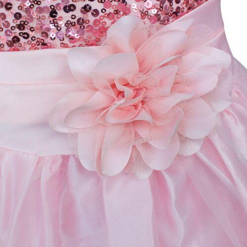UK Baby Flower Girls Party Sequins Dress Wedding Bridesmaid Dresses Princess