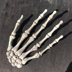 Halloween-Kunststoff-Geist-Skelett-Hand-Knochen-Handwerk-Dekor-Party-1-Paar