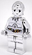 Custom Chrome Lego Star Wars Minifigure SILVER C-3PO C3PO TC-14 Pad Print