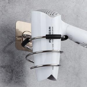 Hair-Dryer-Rack-Storage-Organizer-Holder-Hanger-Bathroom-Wall-Mounted-Stand-1AF