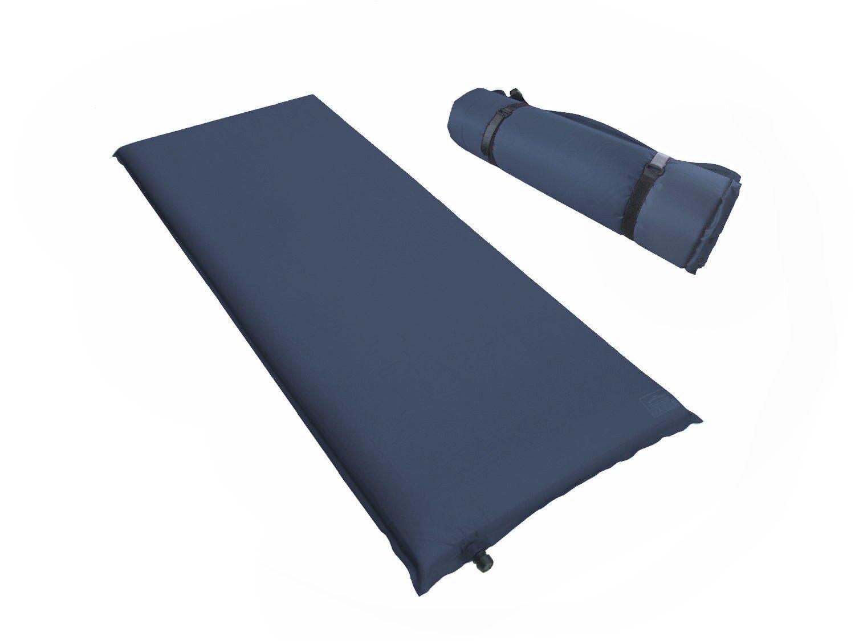 Isomatte XL Selbstaufblasend Luftmatratze Lufbett 200 x 66 x 10 cm in Blau  | Economy