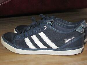 Mal invierno sabor dulce  Para Hombre Adidas Vespa Azul Lona de estilo vintage y retro Zapatillas  Size UK 7/US 7.5 Gran   eBay