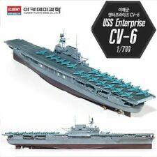 Academy #14224 USS Enterprise CV-6 Aircraft Carrier 1/700 Plastic Model rj