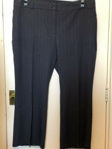 Simply Be Agenda Trousers Blue Navy Pinstripe Bootcut Work Office Sizes 14-26