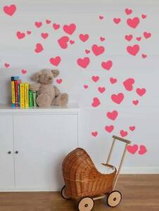 Vario-Tamano-Corazon-Amor-Pegatinas-de-Pared-Nino-Arte-vivero-dormitorio-Vinilo-calcomanias-de