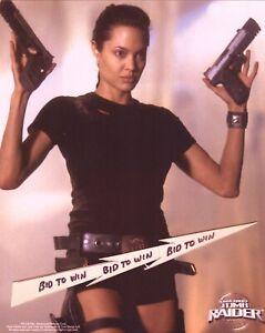 Angelina Jolie Lara Croft Tomb Raider 2001 Full Color 8 X 10 Photo A Ebay