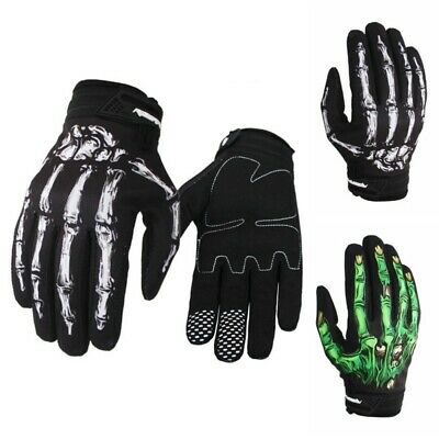 Winter Warm Horror Skull Claw Bone Skeleton Goth Racing Full Gloves Gift