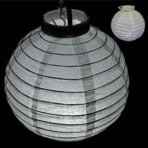"""4 Pack White 12/"""" Heavenly Paper Lantern with LED lights included!"""