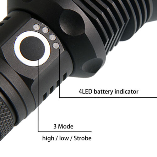 XHP110 XHP90.2 70.2 LED Flashlight Bright Torch USB Rechargeable zoombar