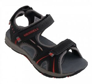 482d5ac9dc4c NEW MERRELL Panther Water Sandal Toddler Boys Black Red SELECT SIZE ...