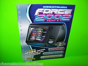MEGATOUCH-FORCE-2002-By-MERIT-ORIGINAL-VIDEO-ARCADE-GAME-SALES-FLYER-BROCHURE