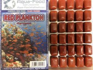 Premium Frozen Fish Food 5 X 100g Packs Red Plankton Vitamins