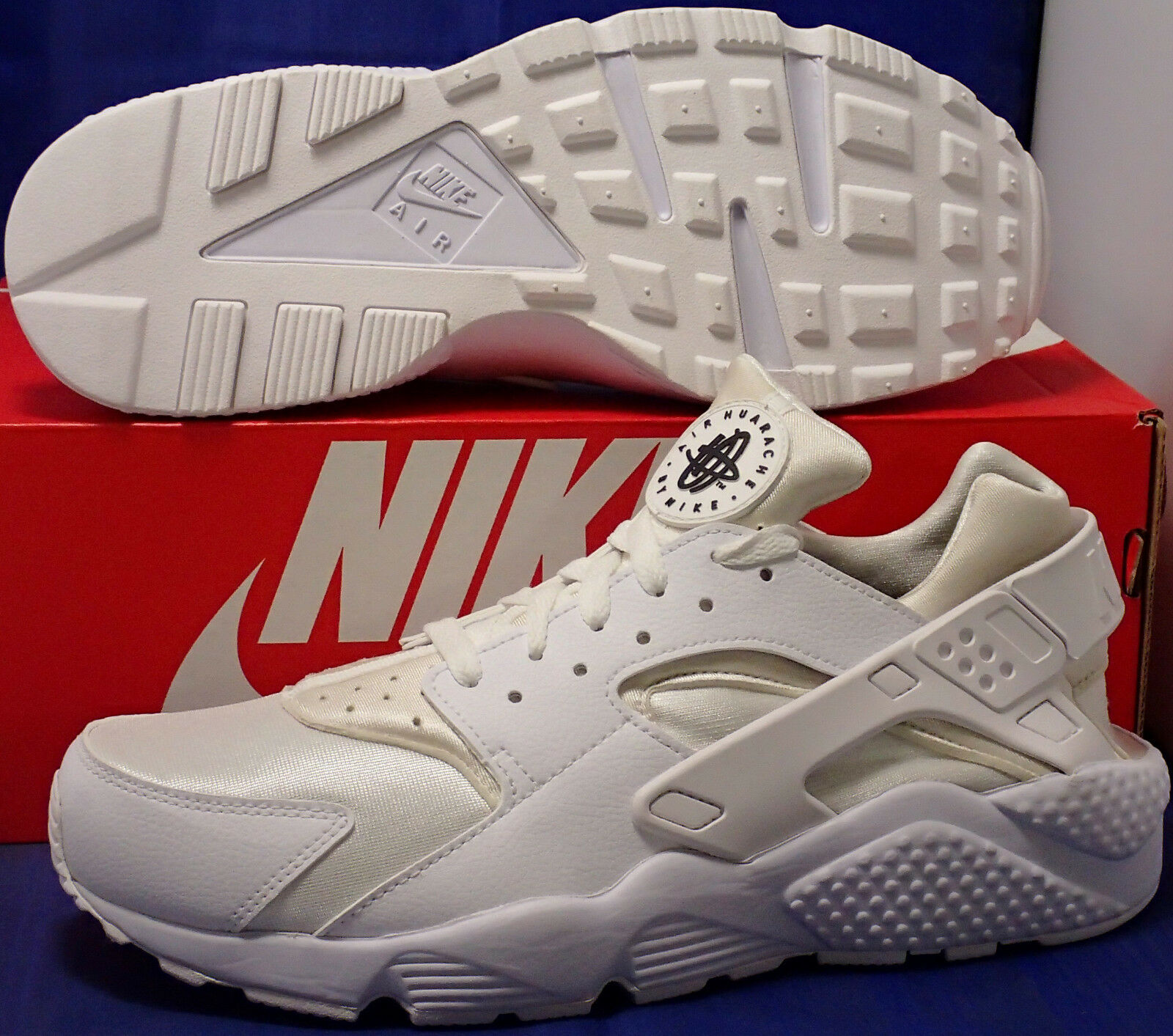 Nike Air Huarache Run iD White Ivory SZ 10 ( 777330-994 )