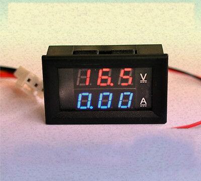 New DC 4.5-30V 50A Dual LED Panel Meter Voltmeter Ammeter + 50A 75mV Shunt