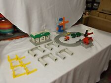FISHER PRICE GEOTRAX REMOTE DOCKING STATION TRAIN TRACK WINDMILL BUILDINGS LOT