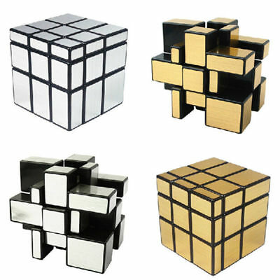 Magic Mirror Pro Ultra Smooth Speed Cube Gold Silver Robiks Puzzle Twist Ebay