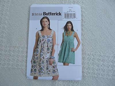 eb32640e2f7 Butterick 5038 Misses 14-20 Empire Waistline Summer Sundress Pattern ...