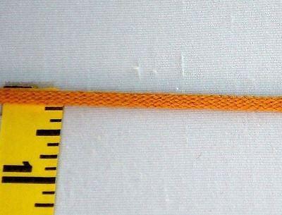 "1//8/"" Flat Cord Braid Yellow Matte Braid Tape Polyester Yellow Gold 5 yds #CO82"