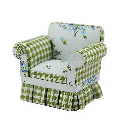 Fine 1:6 Doll Miniature Furniture Model Elegant Fabric Wing Sofa
