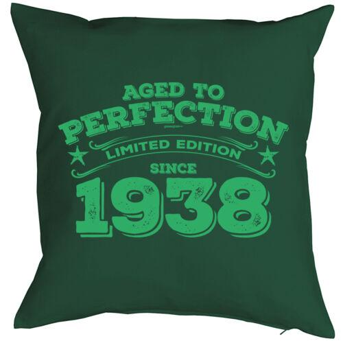 lustiges Sprüche Kissen 82 Jahre Jahrgang 1938-82 Jahre 82 Geburtstag Kissen