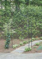 Gardman Gothic Arch Archway Black Arbor Garden Trellis Climbing Plants Vines