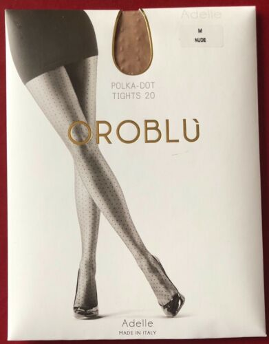 Bargain Oroblu Adelle Polka-Dot 20 Sheer To Waist Tights pantyhose Medium Nude