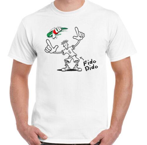 FIDO DIDO T-Shirt Mens 7Up 7 UP Fizzy Drink Coca-Cola RETRO Unisex Top