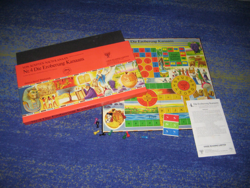Bible Board Game NR 4 the conquest of Canaan Rarity VERY RARE