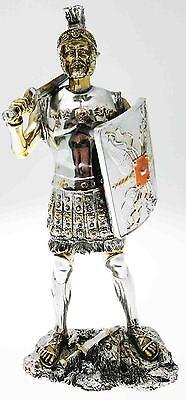 Abile Statuina Soldato Romano Resina Pesante 23,5 Cm