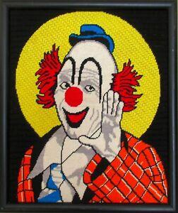 Needlepoint clown