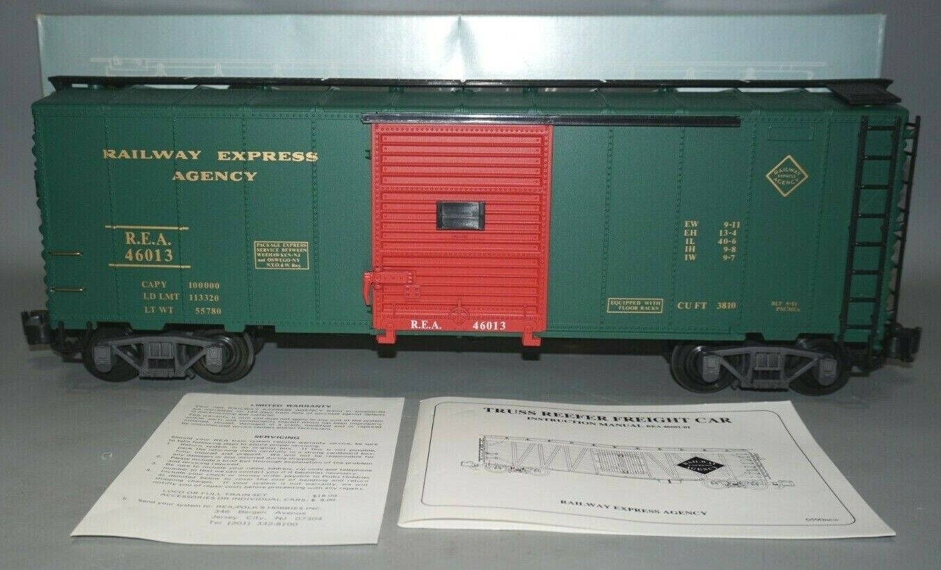 ARISTOCRAFT REA G-SCALE 46013 RAILWAY EXPRESS EXPRESS EXPRESS AGENCY TRUSS REEFER scatola auto IN OB 44d8d8