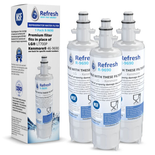 Replacement For LG LFX28968ST Refrigerator Water Filter by Refresh