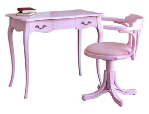Image Is Loading Pink Desk With Swivel Chair Study Room