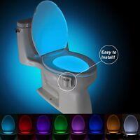 Motion Sensor Led Bathroom Toilet Night Light - 8 Colors